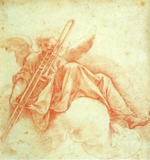 roncalli_angelo_suona_trombone_disegno