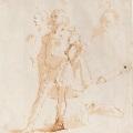 giambattista tiepolo giovane in piedi e studi di tre teste gallery
