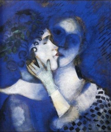 chagall amanti-blu