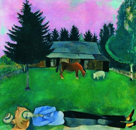 chagall poeta-giacente