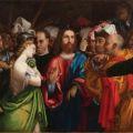 Lorenzo Lotto Cristo e ladultera