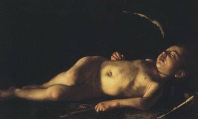 amorino-dormiente-caravaggio