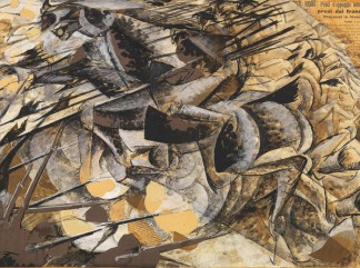 boccioni Carica di lanceri Lancers Charging 1915-324x241