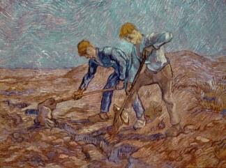 vincent van gogh-due zappatori da millet-1889 -324-241