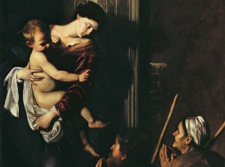 caravaggio madonna-dei-pellegrini 1604-1606