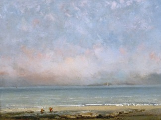 Gustave Courbet - The Beach at Trouville - 324-241