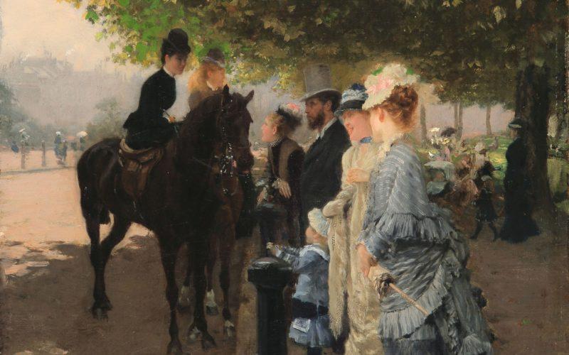 Giuseppe De Nittis-Eleganze ad Hyde Park-Londra-1876