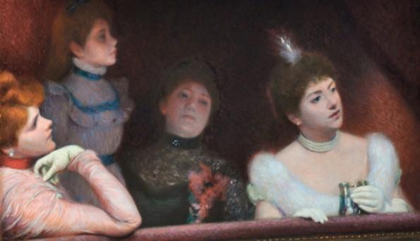 Federico Zandomeneghi, A teatro, 1895