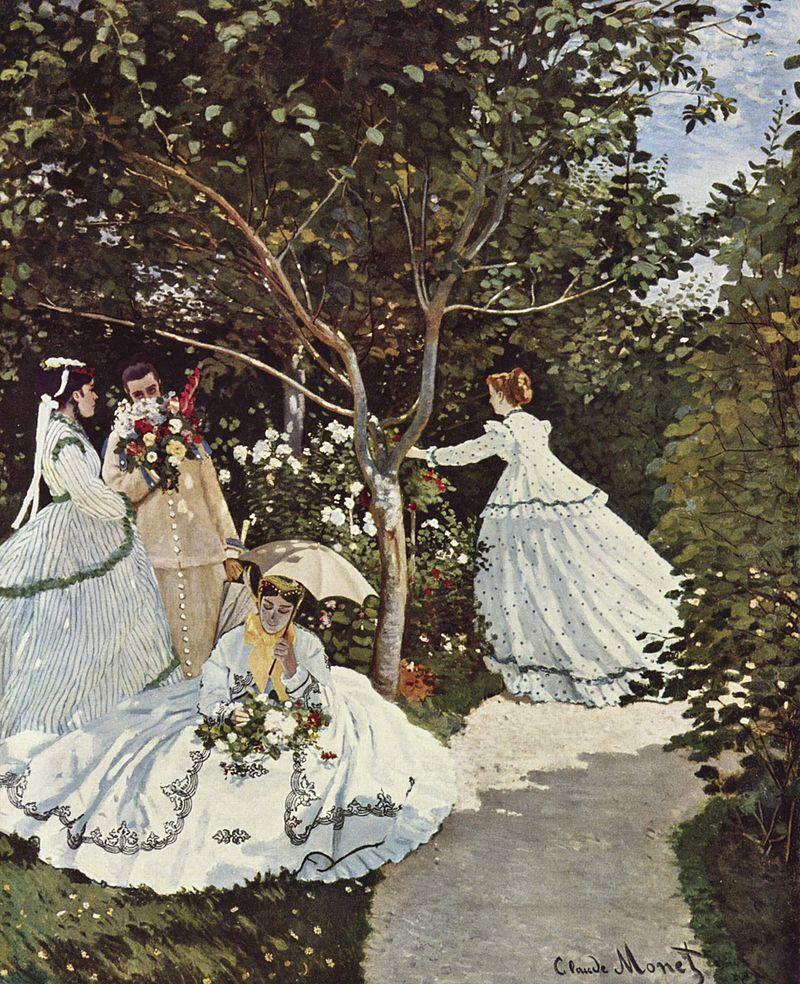 Donne in giardino di Claude Monet 1866, custodito al Musée d'Orsay, Parigi