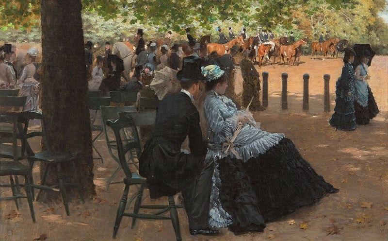 Giuseppe De Nittis, Flirtation, Hyde Park, 1874