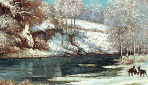 Gustave Courbet, Winter Landscape,  1866 -particolare