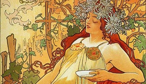 Alphonse Mucha, Le stagioni: autunno, 1896 (particolare)