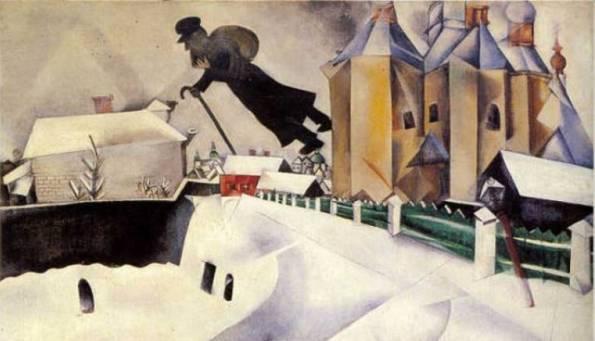 Marc Chagall, Sopra Vitebsk, 1914