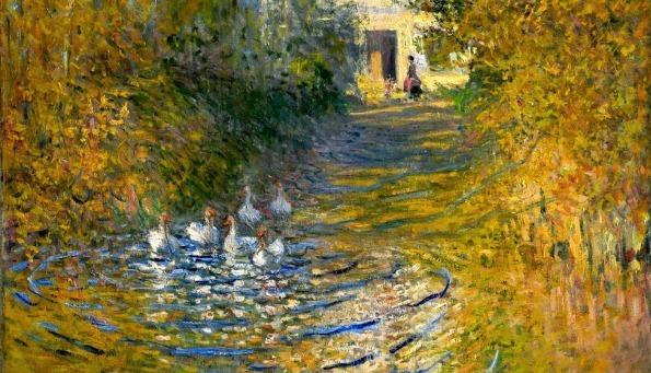 Claude Monet, Oche nel ruscello, 1874
